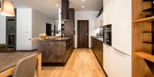 dvouřadá kuchyně lak a lamino